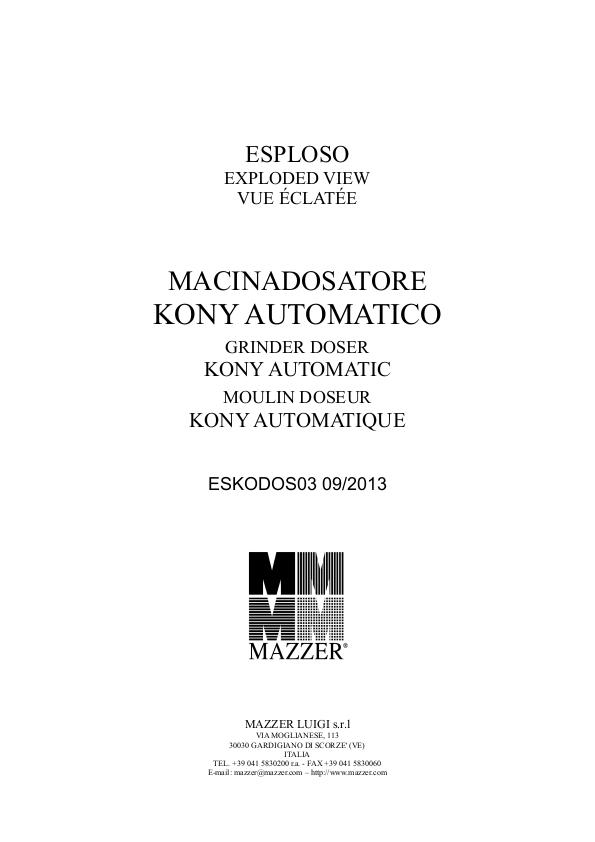 Kony Macinadosatore 分解图